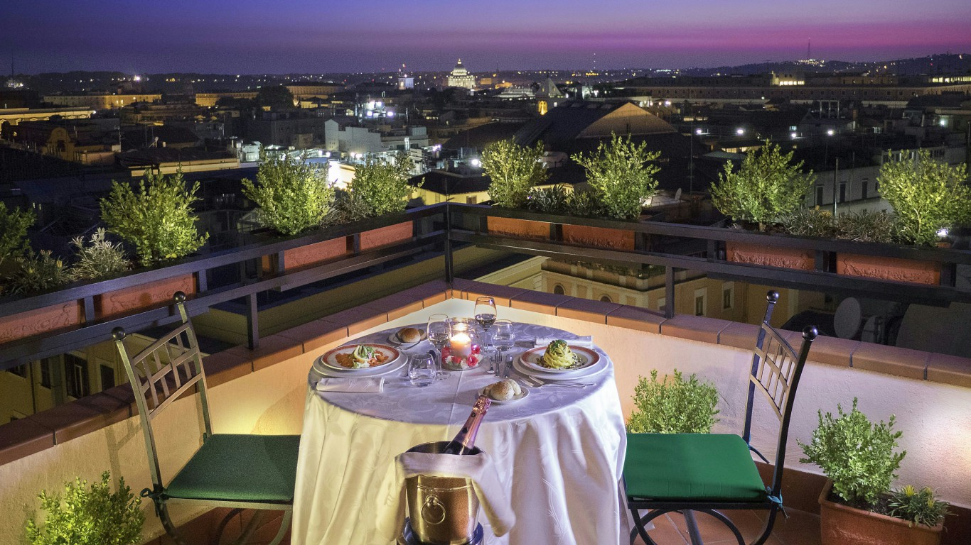 Hotel diana rome roof garden official site for Day office roma